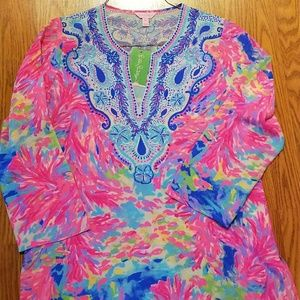 Lilly Pulitzer Palm Beach Coral tunic